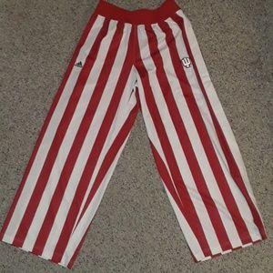 Adidas IU candy stripe warm up pants